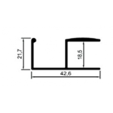 ALİMİNYUM PROFİL MD 1071 PARLAK ELOKSAL(1 METRE)