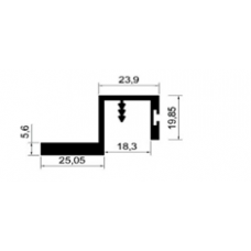 ALİMİNYUM PROFİL MD 1062 C-PARLAK ELOKSAL(1 METRE)