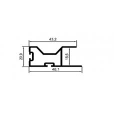 ALİMİNYUM PROFİL MD 1082-MAT ELOKSAL(1 METRE)