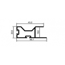 ALİMİNYUM PROFİL MD 1082-PARLAK ELOKSAL(1 METRE)