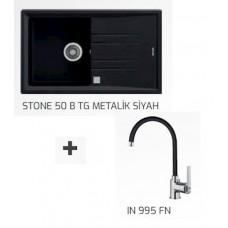 STONE EVİYE  50 B TG + IN 995 FN METALİK SİYAH